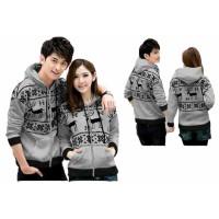 WinKin - Jaket Couple Snowflake - Abu Limited