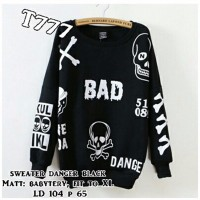 WinKin - Sweater Danger - Hitam Limited