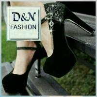 Jual Sandal High Heels Glamour Hitam Sepatu Pesta Wanita Murah Murah