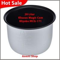 Panci Teflon Magic Com Rice Cooker Miyako 20 Liter MCG-171 - 100% OR S