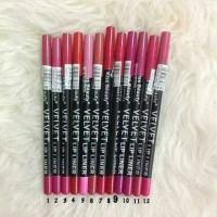 HOT Pensil Bibir Box Kayu Velvet Lip Liner / Lipliner Kiss Beauty -
