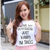 [BEST] T-Shirt / Tumblr Tee / Kaos Wanita I Love My Boyfriend Warna