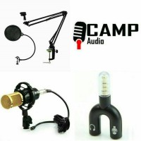 Mic BM800 + Stand mic arm + pop filter filter + Splitter audio U