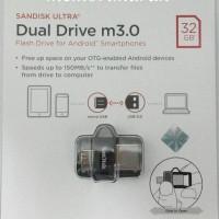 Jual Sandisk Ultra Dual Drive m3.0 OTG 32gb Up to 150MB/s - Garansi Resmi Murah
