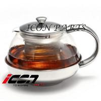 Harga stainless tea pot with infuser teapot 1050ml teko teh | antitipu.com