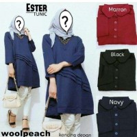 ESTER TUNIC Blouse dress wanita polos simple murah