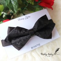 Jual dasi kupu bowtie import diamond batik black ready Murah