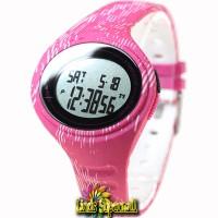 Jam Tangan Wanita Adidas ADP3183 Adizero Digital Matte Pink Rubber