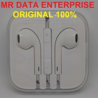 Headset Earphone Handsfree Earpods Apple Iphone 5 Ipad Mini with Mic Original 100%