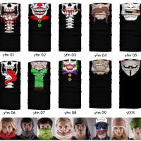 Jual Masker Baff Bandana Motif Topeng Wajah Horror Clown Mask Multifungsi Murah
