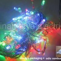 Jual lampu led natal dekorasi , led twinkle light , led string WARNA WARNI Murah