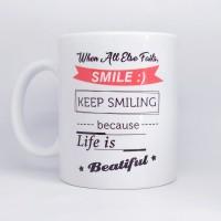 Jual Mug custom warna putih untuk souvenir kado ultah, pernikahan, reuni Murah