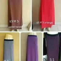 Rok Bahan Panjang Karet Wanita/Kantor/Muslim/Model A (SS,S,M,L,XL)