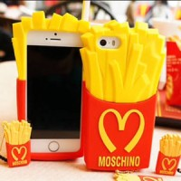 Case McDonald's Moschino French Fries TPU Case iphone 4/4s uniqq case