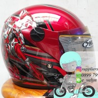Helm Bogo Anak Transformer Red / Robot / Animasi