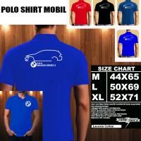 Polo Shirt Otomotif Mobil BMW Wagon Seri 3 SILUET 1/Kaos Kerah/Baju