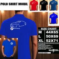 Polo Shirt Otomotif Mobil BMW Serie 3 GT SILUET 1/Kaos Kerah/Baju