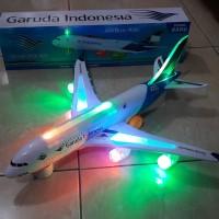 mainan replika pesawat terbang garuda ( miniatur edukasi, anak )