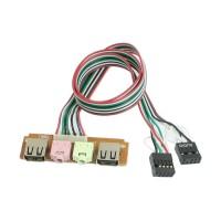 KABEL USB AUDIO PORT MIC EARPHONE UNTUK PANEL CASING COMPUTER