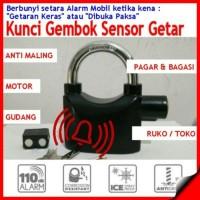 Jual Kunci Gembok Kinbar Sensor Getar dan Alarm / Pengaman Sepeda Motor Murah