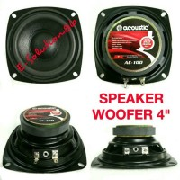 Harga speaker woofer acoustic ac 100 4 200w speker mobil wofer bass 4   antitipu.com