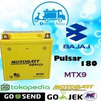 Aki Motor Bajaj Pulsar 180 Motobatt MTX9 Aki kering / Aki Gel