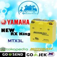 Aki Motor Yamaha New RX King Motobatt MTX3L Aki Kering