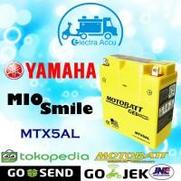 Aki motor Yamaha Mio Smile Motobatt MTX5AL Aki Kering / Aki Gel