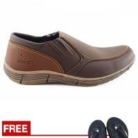 Sepatu Pria Loafers Santai Kampus Dan Kerja Redknot Grovers Brown