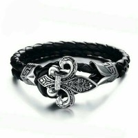 harga Leather Bracelet |punk Rock | P1257 | Gelang Kulit Cowok Cool Design Tokopedia.com