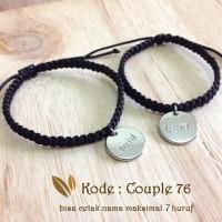 Gelang Couple Nama, Gelang Pasangan Nama maksimal 5 huruf Couple 76