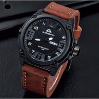 [Asli] Jam Tangan Pria Murah Quiksilver QS03 Leather / Kulit Brown