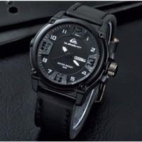 (New) Jam Tangan Pria Murah Quiksilver QS03 Leather / Kulit Black