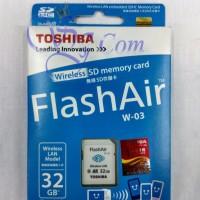 Jual TOSHIBA FLASH AIR WIRELESS SD CARD 32GB ORIGINAL 100% Murah