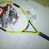 Raket tenis Wilson hyper hammer kuning H6 + bonus (tas & grip)