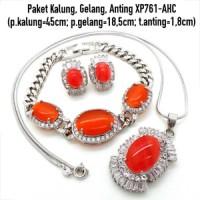 Jual Perhiasan Imitasi Murah Paket Perhiasan Batu Lapis Emas XP761-AHC Murah