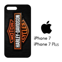 Casing Hp iPhone 7 & iPhone 7 Plus Motor Harley Davidson Logo X4357