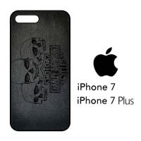 Casing Hp iPhone 7 & iPhone 7 Plus Harley Skull Wallpaper X4488