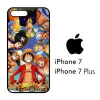 Casing Hp iPhone 7 & iPhone 7 Plus One Piece Luffy Crew X4497