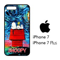 Casing Hp iPhone 7 & iPhone 7 Plus Snoopy Starry Night Van Gogh  X4161
