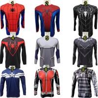 Jual kaos spiderman spider man captain america lengan panjang Murah