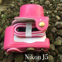 Casing Cover Camera Nikon J5 Leather Case With Strap