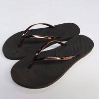 Sandal Jepit Havaianas Leather For woman Brown ( Coklat Tua )