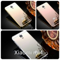 Case For xiaomi Mi4i/Mi4c Bumper Chrome With Backcase Mirror - Gold