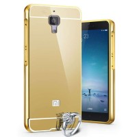 Case For xiaomi Mi4 Bumper Chrome With Backcase Mirror - Gold