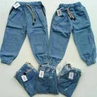 Jual Jogger Denim JUMBO Anak perempuan / Celana Jeans Laki - laki / Grosir Murah