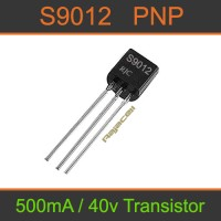 Transistor S9012 9012 PNP 500mA 40V General Purpose Transistor
