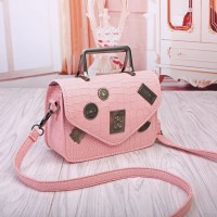 Tas Wanita Pink Selempang Shoulder Jinjing Leather Pesta Kulit Import