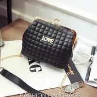 Tas Hitam Import Selempang Shoulder Bag Pesta Murah Luxury Wanita