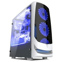 Casing PC CPU CUBE GAMING SAVORA White - M-ATX, RGB Led Strip, Acrylic